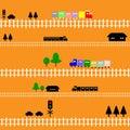 Seamless pattern train railway for kids Royalty Free Stock Photo