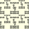 Seamless Pattern With Treble C...