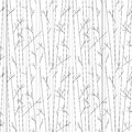 Seamless pattern with trees without leaves