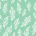 Seamless pattern with tribal feather