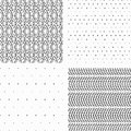 Seamless pattern tribal set