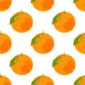 Seamless pattern of tropical citrus fruits