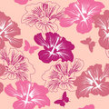 Seamless pattern with tropical flower Royalty Free Stock Photos