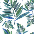 Seamless pattern with tropical leaves Royalty Free Stock Images