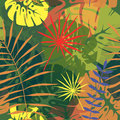 Seamless pattern of tropical leaves 2 Royalty Free Stock Photo