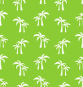Seamless Pattern with Tropical Palm Trees Royalty Free Stock Photo