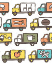Seamless Pattern with Trucks