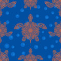Seamless pattern with turtles Royalty Free Stock Photo