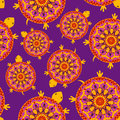 Seamless pattern of turtles with colorful african shells Royalty Free Stock Photos