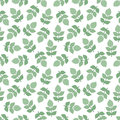 Seamless pattern of twigs and leaves.