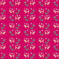 Seamless pattern of two different colored cats go