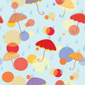 Seamless pattern with umbrella Stock Images