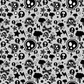 Seamless pattern, urban or punk pop feel Royalty Free Stock Photo