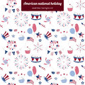 Seamless pattern for USA national holiday Royalty Free Stock Photo