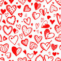 Seamless pattern with valentine hearts Royalty Free Stock Photos