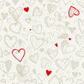 Seamless pattern with valentine hearts Royalty Free Stock Images