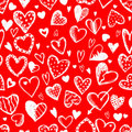 Seamless pattern with valentine hearts Stock Photography