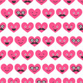 Seamless pattern with valentine hearts smiles for textiles interior design for book design website background Royalty Free Stock Photography