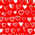 Seamless pattern with valentine hearts for your design this is file of eps format Royalty Free Stock Image