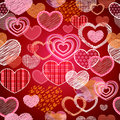 Seamless pattern of valentine love hearts Royalty Free Stock Photo