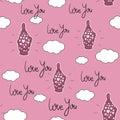 Seamless pattern Valentine`s Day