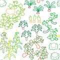 Seamless pattern various vegetables Royalty Free Stock Photo