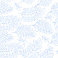 Seamless pattern vector floral background with hand drawn branches for textile, wrapping paper, adult cololring book etc