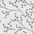 Seamless pattern vector floral background with hand drawn branches for textile, wrapping paper, home decoration etc..