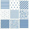 Seamless pattern vector set Royalty Free Stock Photo