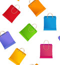 Seamless pattern vector shopping bag on sale different Stock Images