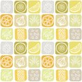 Seamless pattern vegetables and fruit Stock Photo