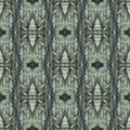 Seamless pattern with vegetal motives seamlessly repeating ornamental wallpaper or textile hand painted in green beige and gray Stock Photography