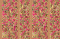 Seamless pattern with vertical stripes and floral hand drawing ornament. Vector wallpaper Royalty Free Stock Photo