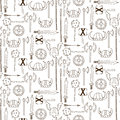 Seamless pattern with viking weapons vector illustration Stock Photography