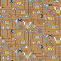 Seamless pattern with viking weapons vector illustration Royalty Free Stock Image