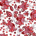 Seamless pattern with  vintage flowers