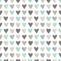 Seamless pattern with vintage hatchet hearts cute vector tiling Royalty Free Stock Images