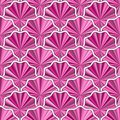 Seamless pattern with vivid pink flowers