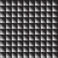 Seamless pattern volumetric square tile or mosaic in vector. Geometric abstract background. Black and white gradient square