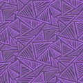 Seamless pattern with warm terra cotta triangles