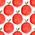 Seamless pattern with watercolor apples. illustration Watercolor apple for your design Royalty Free Stock Photo