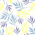 Seamless pattern with watercolor branches