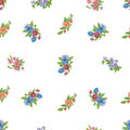 Seamless pattern with  watercolor daisies. Royalty Free Stock Photo
