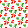 Seamless pattern with watercolor roses. Vector illustration. Floral background for web page, wedding invitation Royalty Free Stock Photo