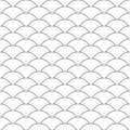 Seamless pattern. Wave. Fish scales texture. Vector illustration. Scrapbook, gift wrapping paper, textiles. Black and white