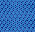 Seamless pattern with waves yin yang blue JPG