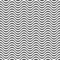 Seamless pattern of wavy lines. Geometric striped wallpaper.