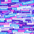 Seamless pattern which is composed of words on business themes vector illustration Royalty Free Stock Image