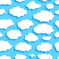 Seamless pattern of white clouds on blue sky Royalty Free Stock Photo