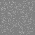 Seamless pattern with white curlicue on the dark gray background Stock Images